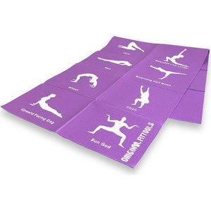 Коврик для йоги Original Fit.Tools складной 4 мм (с упражнениями) FT-YGMF-04