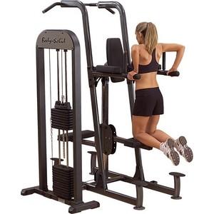 купить Тренажер Body Solid турник\брусья\отжимания с противовесом с весовым стеком 95 кг, FCD-STK онлайн