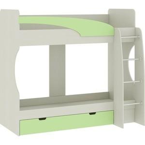 Кровать Атлант Карамель 77-2 Сосна карелия, Зелёный