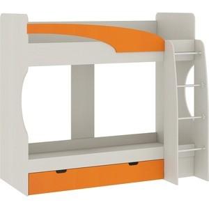 Кровать Атлант Карамель 77-02 сосна карелия/оранжевый