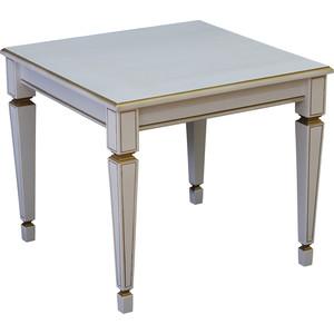 Стол журнальный Мебелик Васко В 82 белый ясень/золото цены онлайн