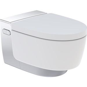 Унитаз-биде подвесной Geberit AquaClean Mera Comfort Rimfree, с сиденьем микролифт, дизайн панель хром (146.214.21.1)