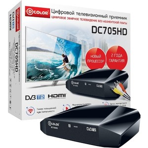Тюнер DVB-T2 D-Color DC705HD цена