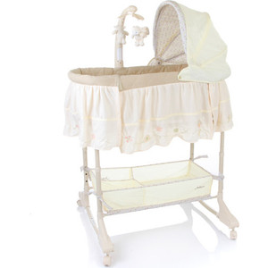 Кроватка Jetem Sweet Dream mobile 3 in 1 Bassinet Кремовый Cream