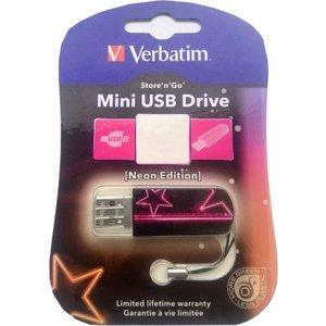 Флеш-диск Verbatim 32Gb Mini Neon Edition Pink (49390) pink tie front cross hem bodycon mini dresses