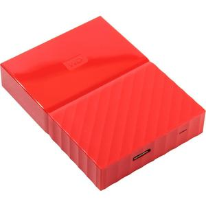 Внешний жесткий диск Western Digital 1Tb My Passport red (WDBBEX0010BRD-EEUE) сетевой накопитель nas western digital my cloud ex2 ultra 12tb wdbshb0120jch eeue wdbshb0120jch eeue