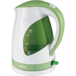 Чайник электрический BBK EK1700P белый/зеленый цена и фото