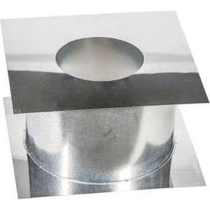 Потолочно-проходной узел Феникс диаметр 120 мм (0.5 нерж.мат./0.5 оцинк.)(365х365 мм)(00858)