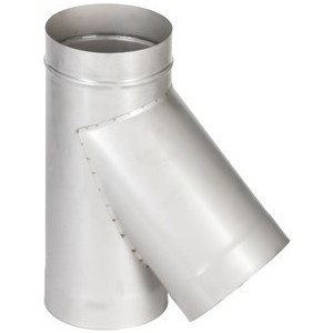 Тройник Феникс дымоходный 150 мм угол 45 градусов (0.5 нерж.мат.)(02562)