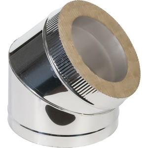 Отвод Феникс сэндвич 150/210 мм угол 45 градусов (0.5 нерж.мат./0.5 оцинк.)(03051)