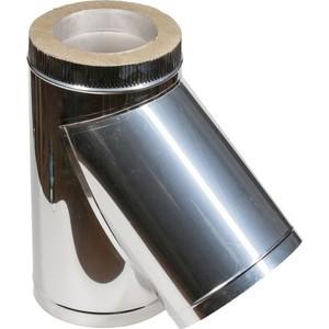 Тройник Феникс сэндвич 110/200 мм угол 45 градусов сталь AISI 430 (1.0 нерж.мат./0.5 нерж.зерк.)(04014)
