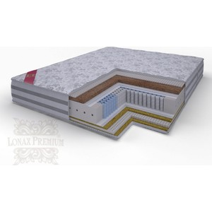 Матрас Lonax Lorentto Lux Anatomic multizone 5-зон 200х195х26