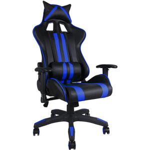 цена на Офисное кресло TetChair iCar, кож/зам, черный/синий