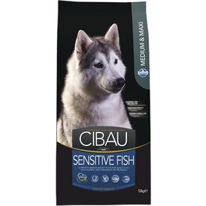 Сухой корм Farmina CIBAU Sensitive Fish Medium & Maxi Breed с рыбой для взрослых собак средних и крупных пород 12кг (31037)