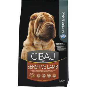 Сухой корм Farmina CIBAU Sensitive Lamb Medium & Maxi Breed с ягненком для взрослых собак средних и крупных пород 2,5кг (30979)
