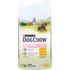 Сухой корм DOG CHOW Puppy Small Breed with Chicken с курицей для щенков мелких пород 2,5кг (12308764)