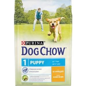 Сухой корм DOG CHOW Puppy with Chicken с курицей для щенков 2,5кг (12308785) витамины 8 в 1 для щенков