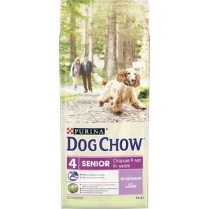 Сухой корм DOG CHOW Senior 9+ with Lamb с ягненком для пожилых собак старше 9 лет 14кг (12308565) сухой корм dog chow senior для собак пожилых старше 9 лет ягненок 14кг