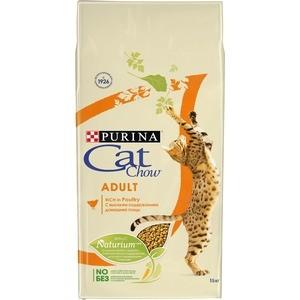 Сухой корм CAT CHOW Adult rich in Poultry с домашней птицей для взрослых кошек 15кг (12309182)