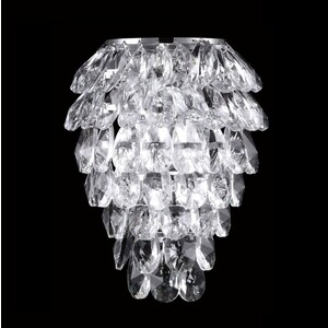 Настенный светильник Crystal Lux Charme AP2+2 LED Chrome/Transparent crystal lux charme sp2 2 led chrome transparent