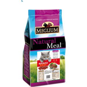 Сухой корм MEGLIUM Natural Meal Cat Adult Beef с говядиной для взрослых кошек 15кг (MGS0515) фото