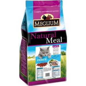 Сухой корм MEGLIUM Natural Meal Cat Adult Fish с рыбой для взрослых кошек 15кг (MGS0215)