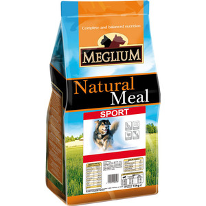 Сухой корм MEGLIUM Natural Meal Dog Adult Sport для активных собак 20кг (MS1220)