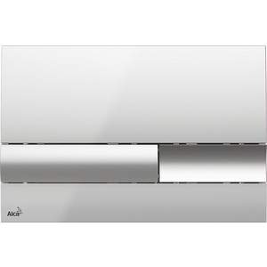Кнопка смыва AlcaPlast хром-глянцевая (M1741)