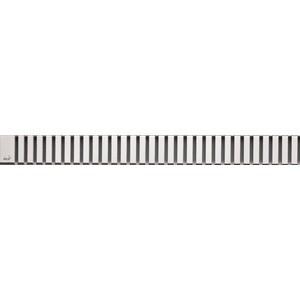 Решетка AlcaPlast Line нержавеющая сталь матовая (LINE-950M) решетка alcaplast line 550l