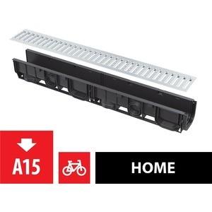 Дренажный канал гаражный AlcaPlast Set 3 м с вертикальным подключением к канализации d110 (AVZ-G101)