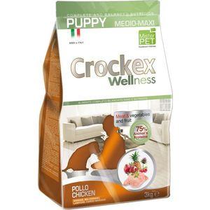Сухой корм Crockex Wellness Pappy Medio-Maxi Chicken Meat & Vegetables Fructs с курицей и рисом для щенков средних крупных пород12кг (MCF3312)