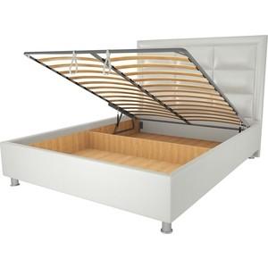 Кровать OrthoSleep Виктория механизм и ящик белый 200х200 кровать orthosleep ниагара механизм и ящик белый 200х200