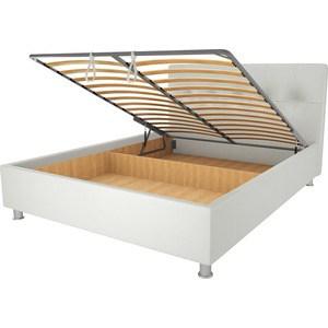Кровать OrthoSleep Примавера уно механизм и ящик белый 90х200
