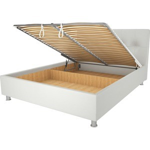Кровать OrthoSleep Примавера уно механизм и ящик белый 120х200 вовненко и примавера