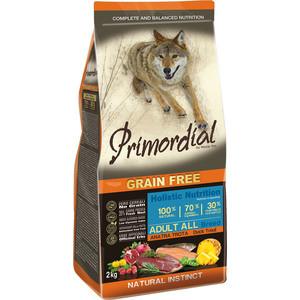 Сухой корм Primordial Grain Free Holistic Dog Adult All Breed with Duck & Trout беззерновой с уткой и форелью для собак всех пород 12кг (MSP5412) все цены