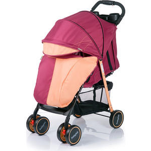 Коляска прогулочная BabyHit Simpy Бордово-оранжевая