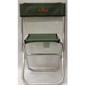 цена на Стул Woodland Tourist ALU, 40 х 30 х 40 (70) см, складной, со спинкой (алюминий) ASM-002