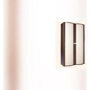 Шкаф 2-х дверный Стиль (Милано) 4-ШГ Каркас- венге, Фасад ЛДСП- Дуб млечный