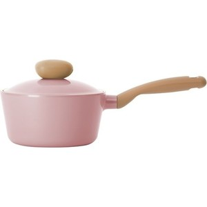 Ковш 18 см с крышкой Frybest Round Pink (ROUND-S18-P) сотейник frybest round l 22 p