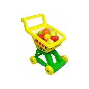 Фото - Совтехстром Тележка для супермаркета с набором овощей и фруктов (У902) полесье игрушечная тележка supermarket 1 с набором продуктов цвет в ассортименте