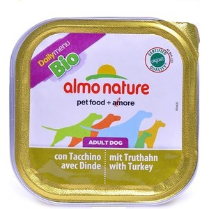 Консервы Almo Nature Daily Menu Bio Adult Dog with Turkey паштет с индейкой для собак 100г (1179) almo nature almo nature daily menu adult cat veal