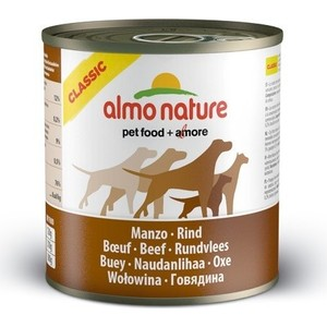 Консервы Almo Nature Classic Adult Dog with Beef с говядиной для собак 290г (4323) все цены