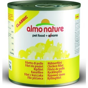 Консервы Almo Nature Classic Adult Cat with Chicken Fillet с куриным филе для кошек 280г (3746)