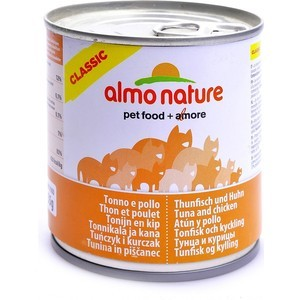 Консервы Almo Nature Classic Adult Cat with Tuna and Chicken с тунцом и курицей для кошек 280г (3791) almo nature almo nature classic adult cat cuisine tuna