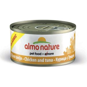 Консервы Almo Nature Classic Adult Cat with Chicken and Tuna с курицей и тунцом для кошек 140г (0271) цена и фото