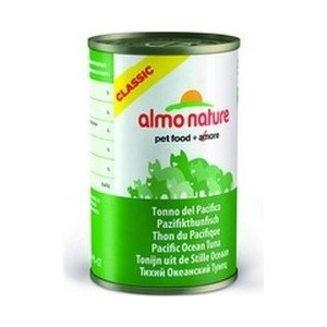 Консервы Almo Nature Classic Adult Cat with Pacific Ocean Tuna с тихоокеанским тунцом для кошек 140г (0264) almo nature almo nature classic adult cat cuisine tuna