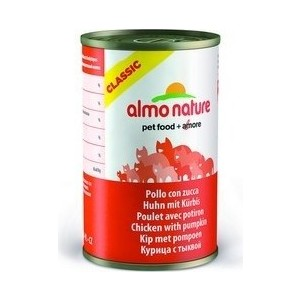 Консервы Almo Nature Classic Adult Cat with Chicken and Pumpkin с курицей и тыквой для кошек 140г (0530)