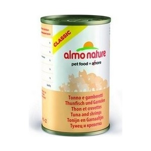 цена на Консервы Almo Nature Classic Adult Cat with Tuna and Shrimps с тунцом и креветками для кошек 140г (0257)