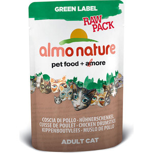 Паучи Almo Nature Green Label Raw Pack Adult Cat Chicken Drumstick с курицей