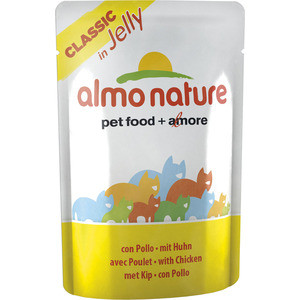 Паучи Almo Nature Classic in Jelly Adult Cat with Chicken с курицей в желе для кошек 55г (4736) цена и фото